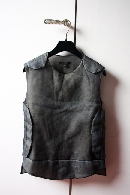Helmut Lang silk bulletproof vest