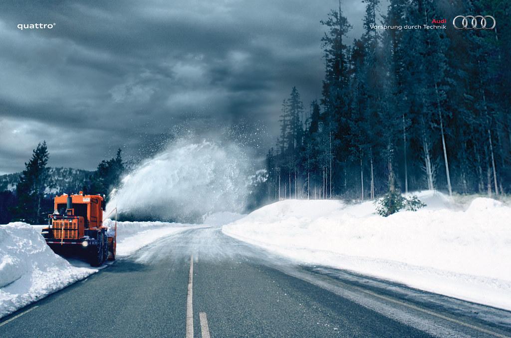 Audi Quattro - Snowplow