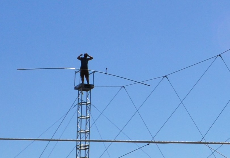 Tying the Blindfold. King of the High Wire, Nik Wallenda, Trains in Sarasota, Fla., in Preparation for His Nov. 2, 2014 Walk Across Chicago River. Taken: Oct. 18, 2014