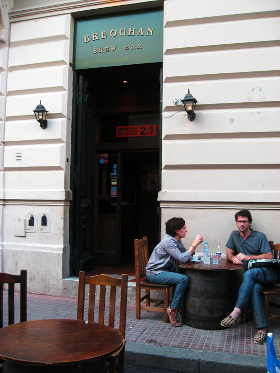Beer at Breoghan Bar in San Telmo, Buenos Aires