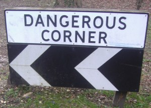Dangerous corner Clandon