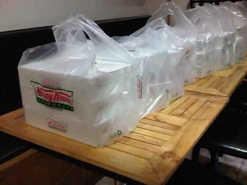 A whole lot of Krispy Kreme