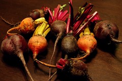 golden and red beets