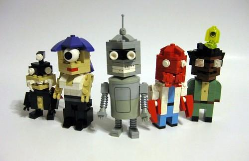 LEGO CubeDude Futurama characters