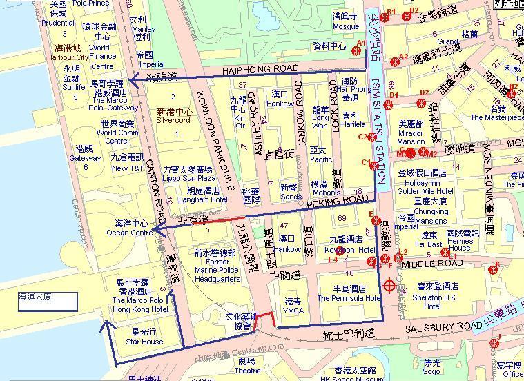 尖沙咀港鐵站點去海港城 急!! | Yahoo 知識+