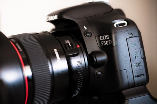 I met the new Canon EOS 550D today