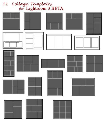21 collage templates - download Adobe Lightroom Flickr