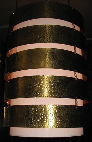 Glowbal's light fixture close up