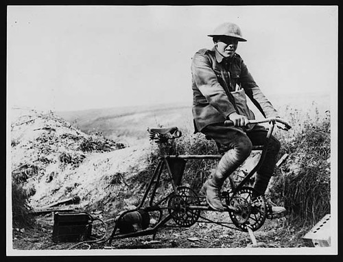 How the Germans generate electricity for wireless in the trenches
