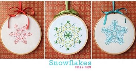 Snowflake pattern set