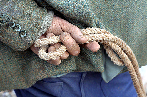 truffle hunter's hands