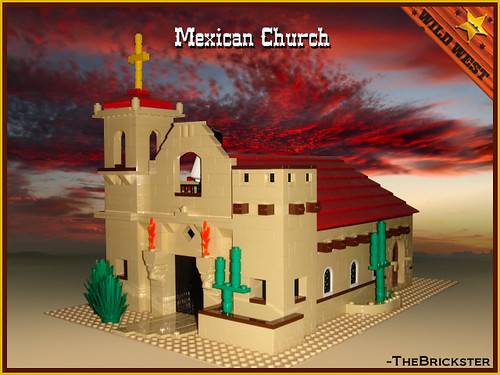 LEGO WesternOutlaw Mexican church