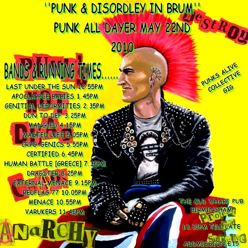 Punk & Disorderly in Brum - Punk all dayer may 22nd 2010