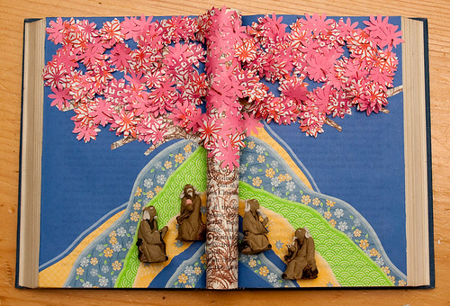 Altered Book: In the shade of the cherry blossoms