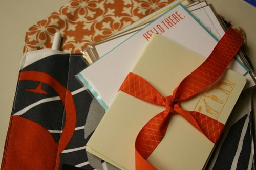 Finished correspondence envelope tutorial
