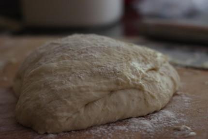 Hungarian potato bread Dough is pretty sticky