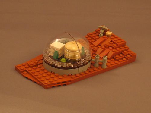 LEGO microscale Mars colony