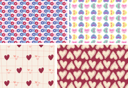 Wild Olive hearts day origami paper
