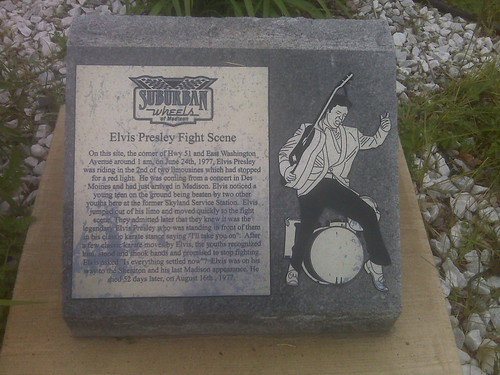 Elvis Presley Fight Scene marker in Madison, WI