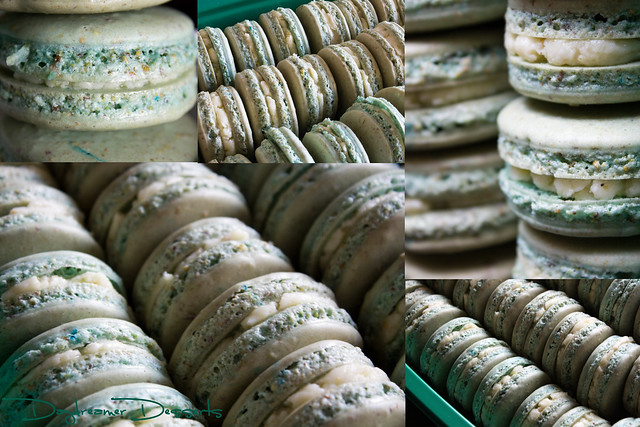 Pistachio² + White Chocolate Macarons