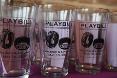 Our pint glass guest gifts