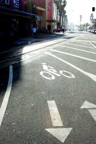 Bike crossing over railroad tracks