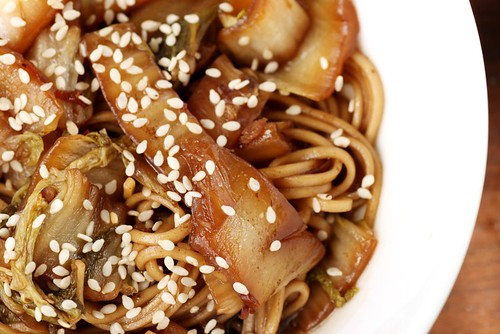 hot and sour napa cabbage with soba