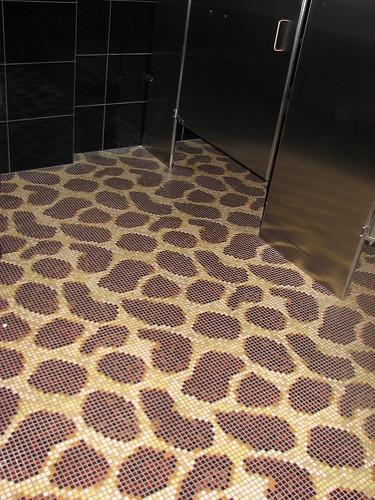 Glowbal's bathroom's leopard print tile