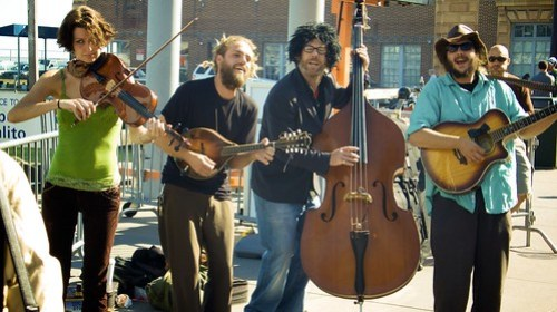 Music at the Ferry Building Farmers Market - heber's Cross Process
