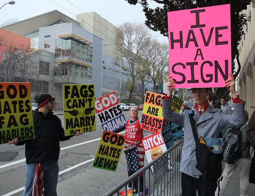 I HAVE A SIGN-Westboro Baptist Protest of Twitter