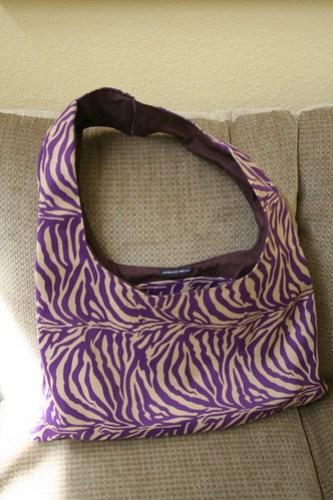 Zebra Nappy Bag