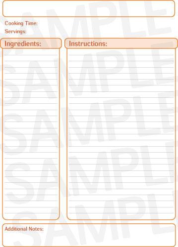 Free printable editable recipe pages Trials Ireland