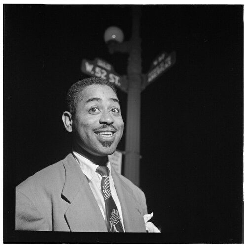 [Portrait of Dizzy Gillespie, 52nd Street, New York, N.Y., between 1946 and 1948] (LOC)