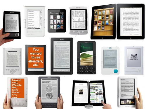 """eBook Readers Galore"" by Michael Porter via Flickr, see below for license"