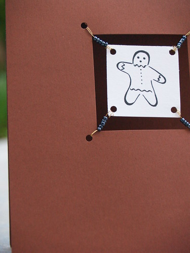 Gingerbread Man Suspended Card