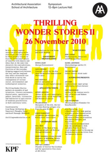 101118 Thrilling Wonder II Stories Poster Nov 2010 art COLOUR
