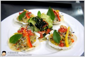 [西餐]海鮮類 陳年醋蘑菇烤扇貝