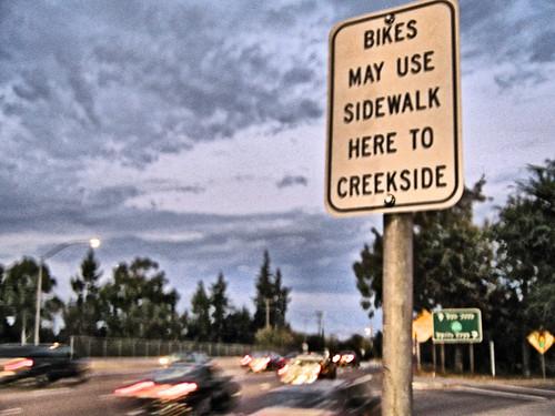 Bikes May Use Sidewalk