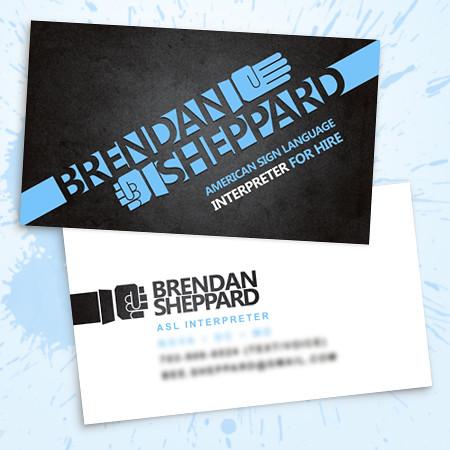 bsheppard_bizcards_sample by Sheppard-Arts, via Flickr Design - business card sample