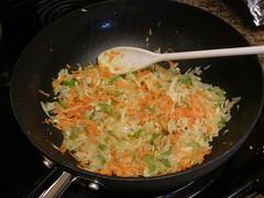 Sauteein' the veg