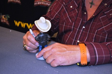 American Dream - Wrestler Dusty Rhodes Signing Bobblehead of Self, Punta Gorda, July 30, 2010