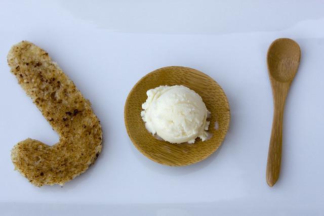 Honey Wheat Ice Cream base chilling in an ice bath