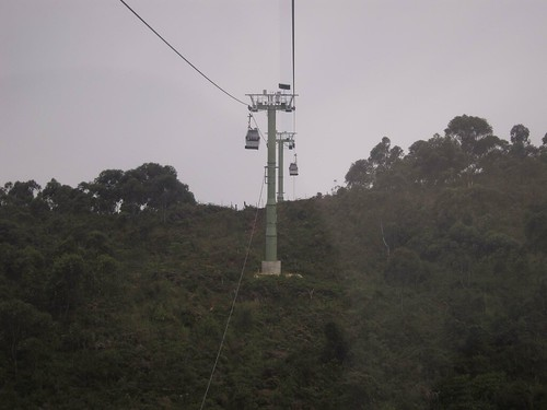 The metrocable from Santo Domingo to Parque Arvi