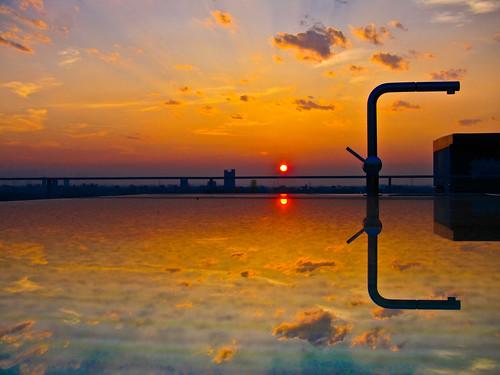 今日の夕日, Today's sunset from Tokyo