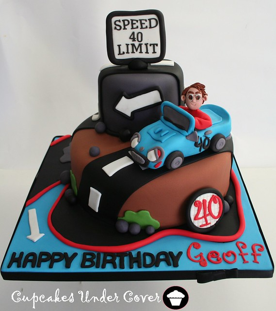Geoff's 40th Cartoon Cake