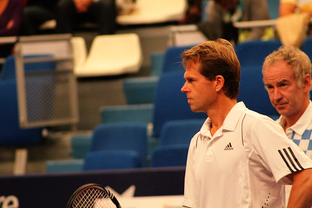 Stefan Edberg and John McEnroe