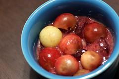 mini stone fruit crisps