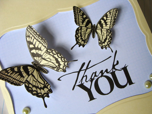 Lucy\u0027s Cards simple butterfly thank you - butterfly thank you cards