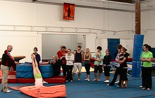 Yves leading Level 2 Gymnastics Coaching clinic