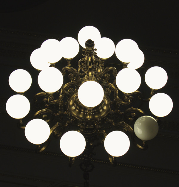 gold is the metal with the broadest chandeliers